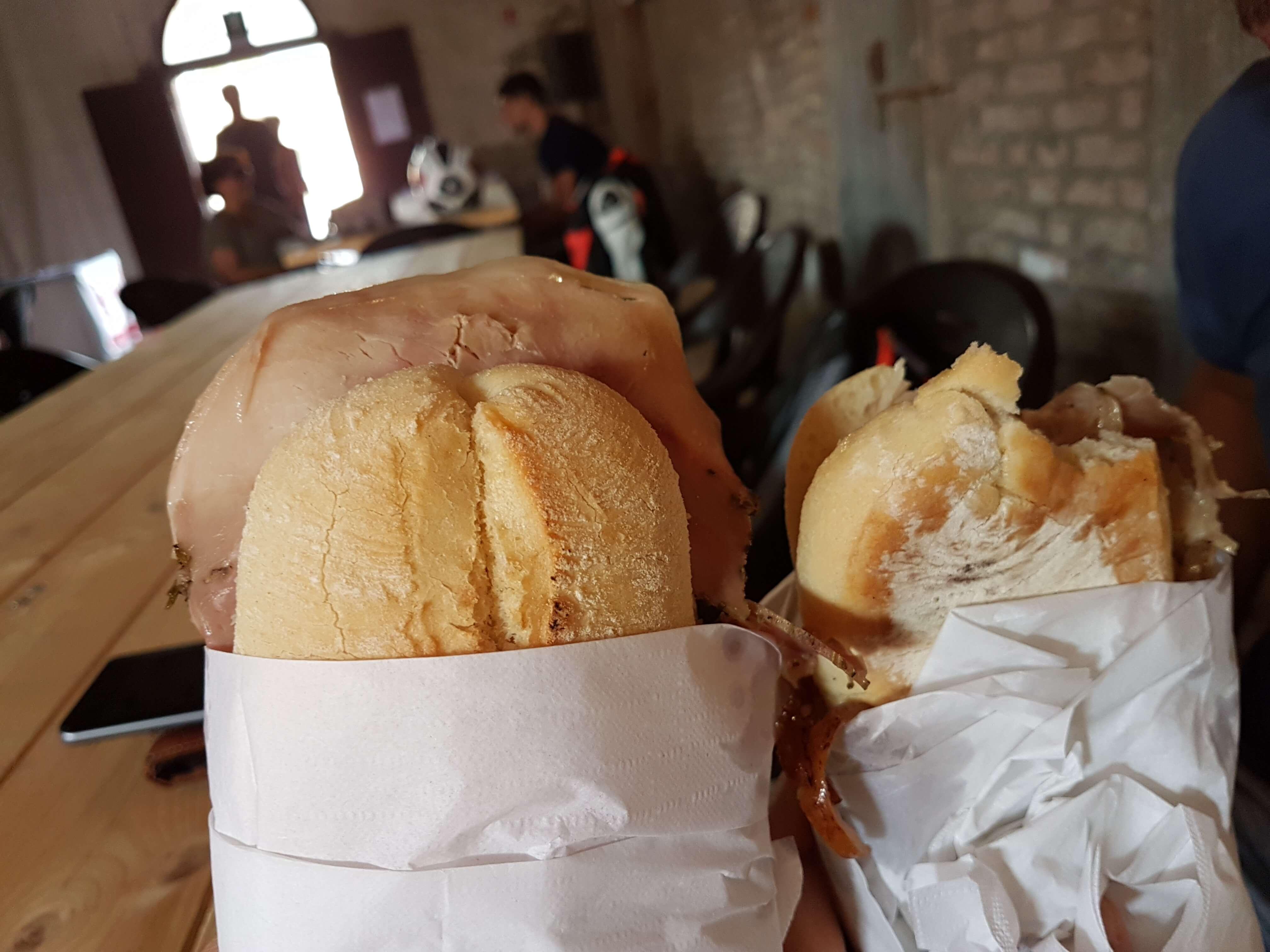 panini con la porchetta