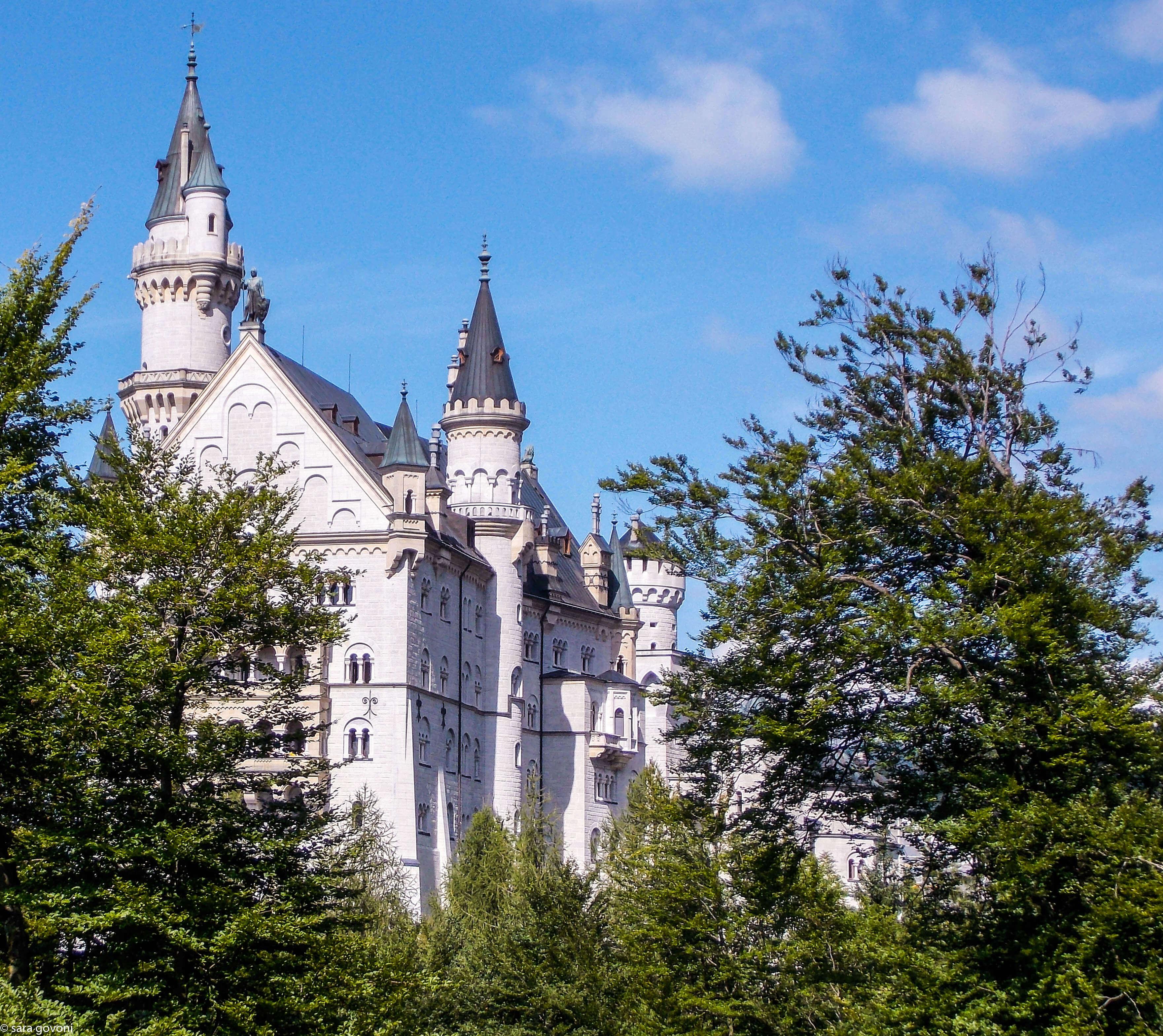I castelli della Baviera: il Castello Neuschwanstein avvolto dal verde
