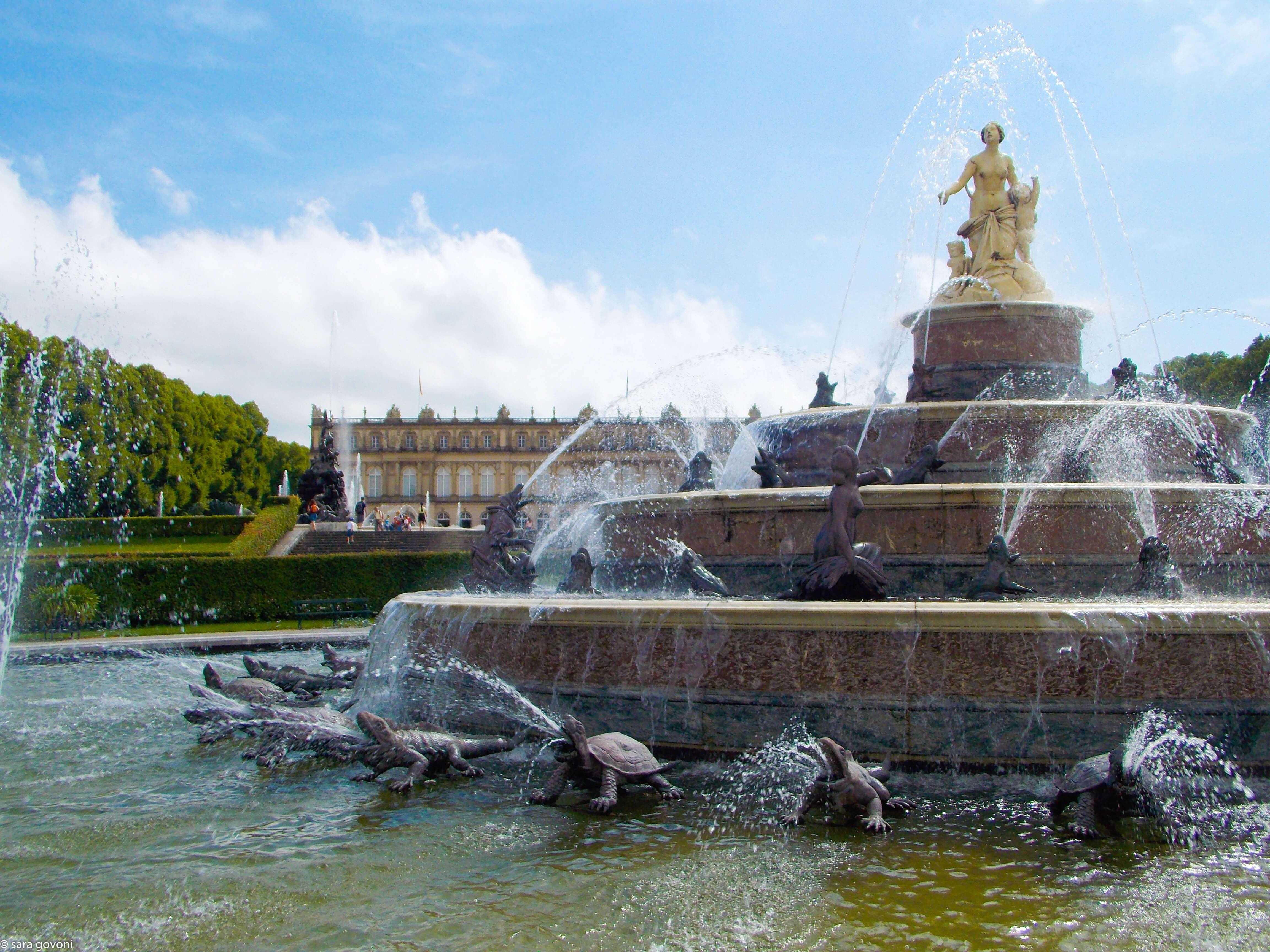 La fontana del castello di Herrenchiemsee
