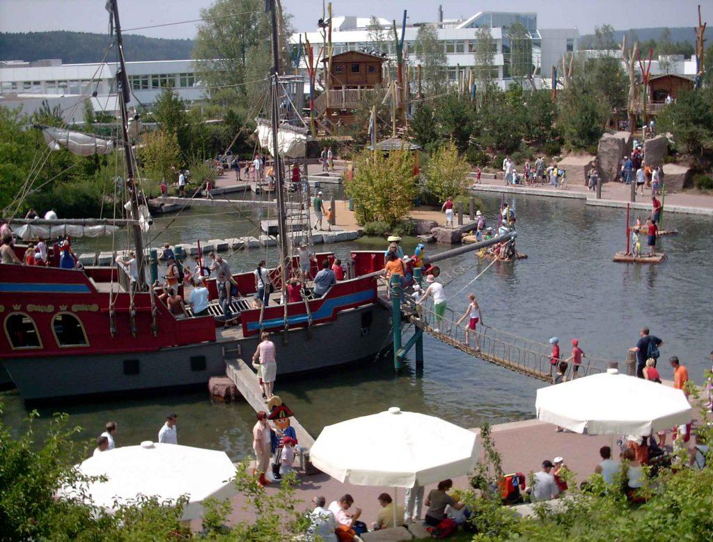 Baviera con bambini: l'attrazione dei pirati al parco Playmobil