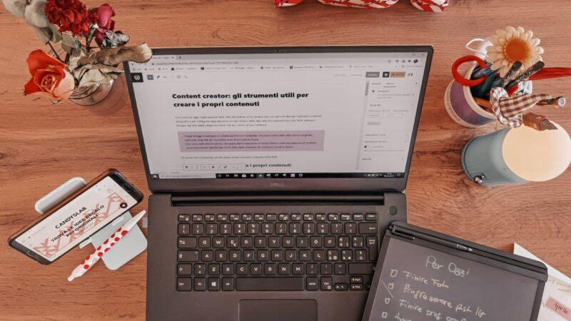 Content creator: gli strumenti utili per creare i propri contenuti