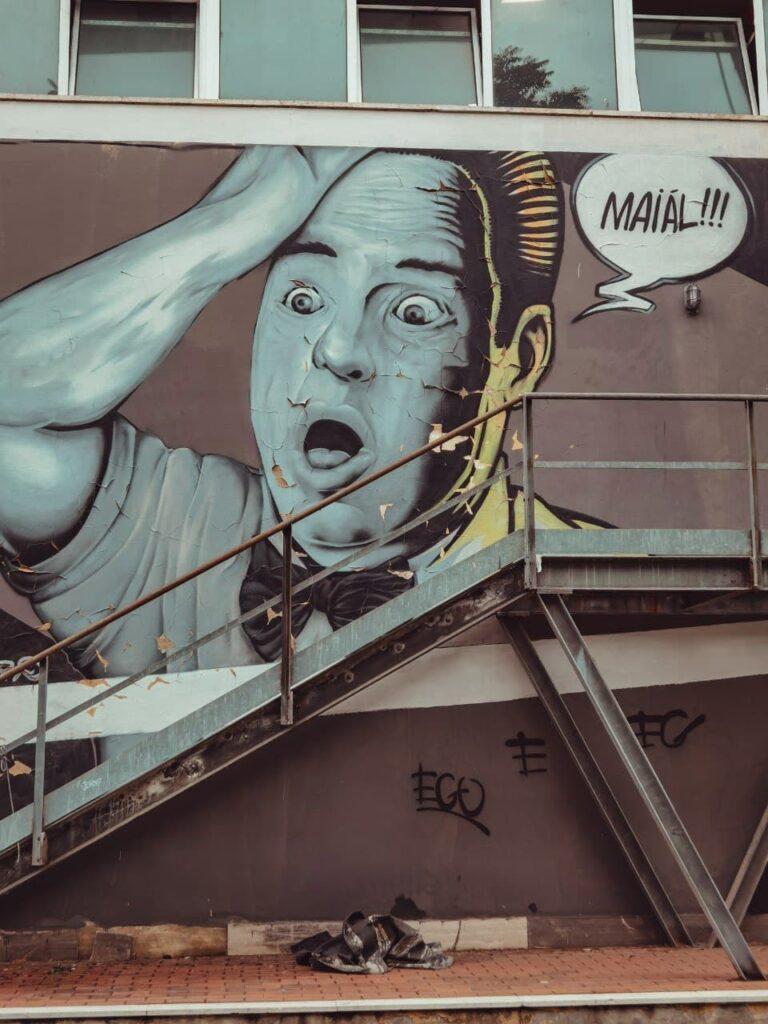 murales con fumetto majall a Ferrara
