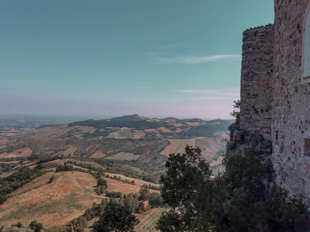 castello di Rossena con panorama