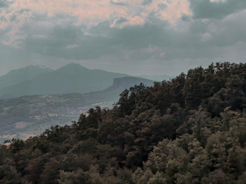 panorama dalla panchina gigante sul monte fosola