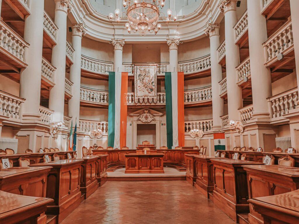 sala del tricolore di Reggio Emilia