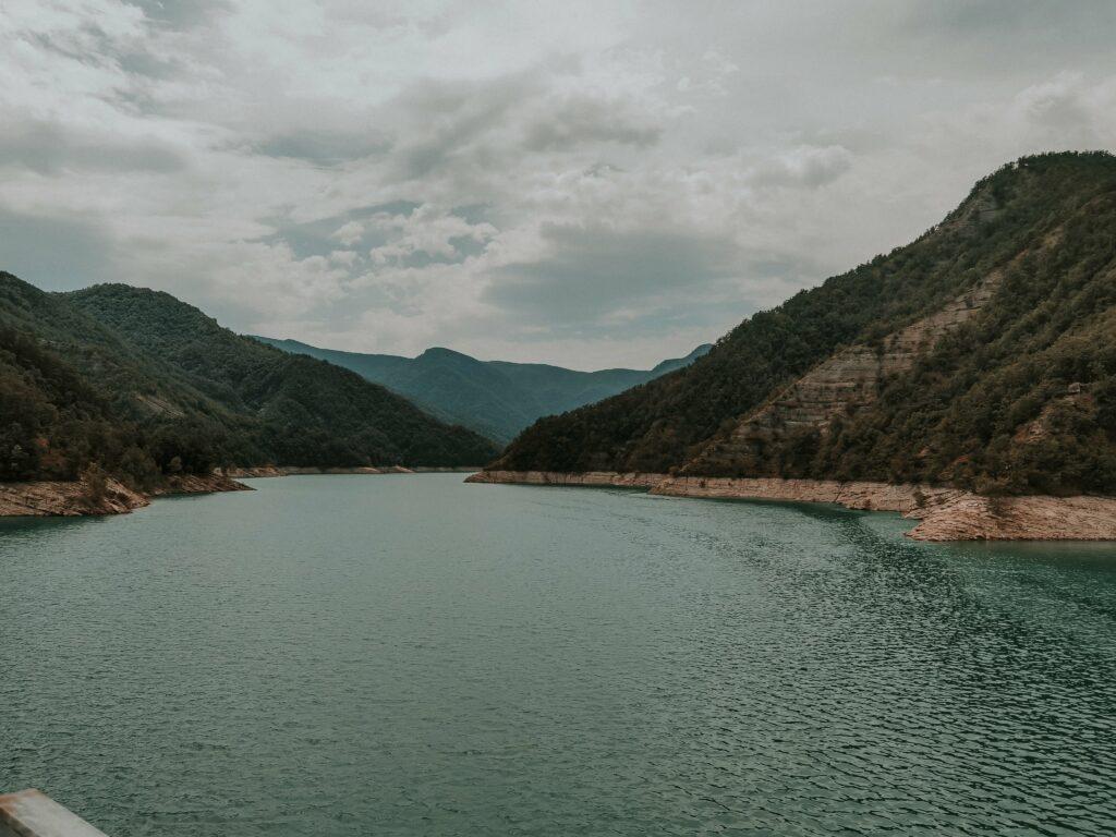 panorama dalla diga di ridracoli