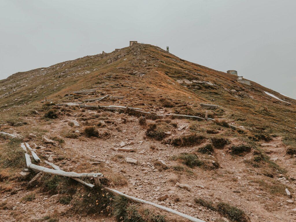 ultimo tratto in salita sul monte cimone