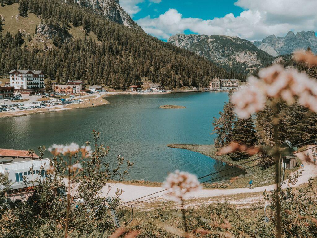 Lago di Misurina dall'alto