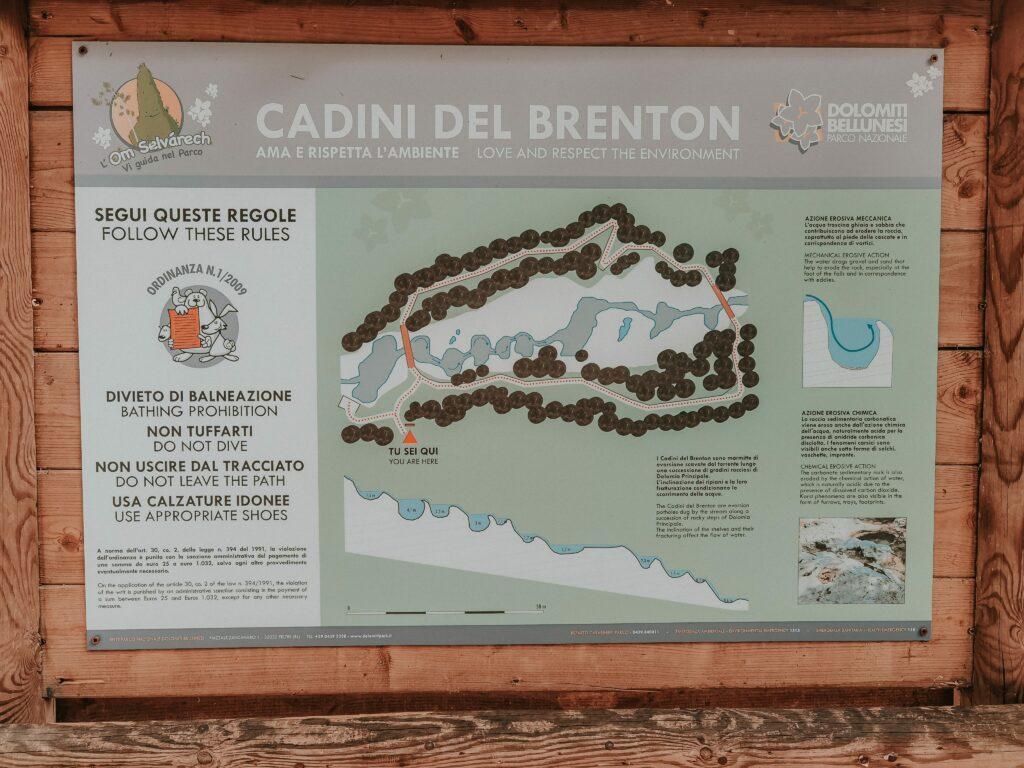 mappa dei cadini del brenton