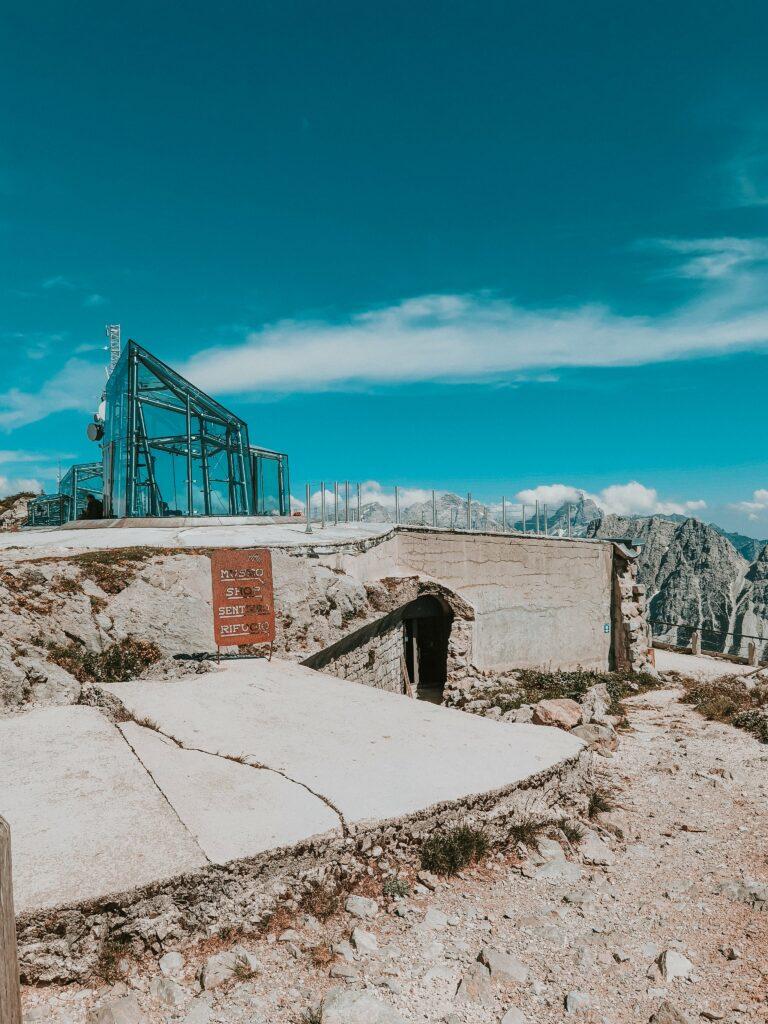 museo delle nuvole dopo il trekking sul monte rite