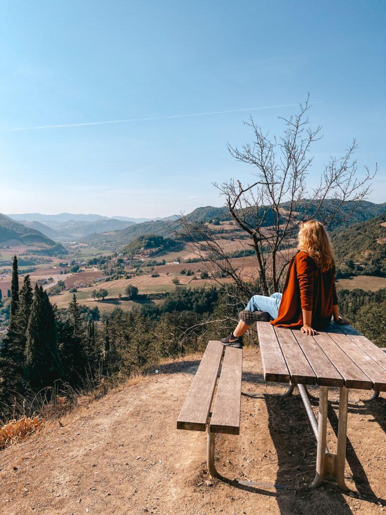 Cosa vedere nella Valle del Bidente panorama della romagna